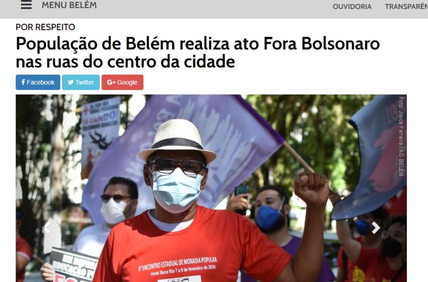 Agência Belém usa máquina pública para divulgar ato do #ForaBolsonaro